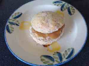 Poppy Seed Scone with Rhubarb Jam