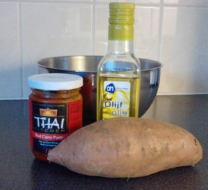 Ingredients for Spicy Poatatoes