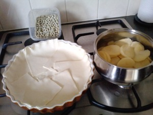 Preparing oven dish