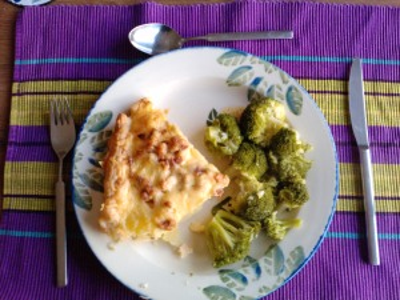 Potato Quiche with Broccoli
