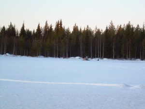 Winter in Finland: the country side in March of this year
