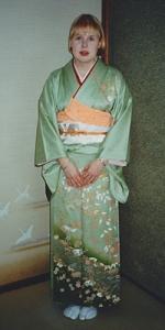 In kimono