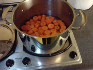 Cook the carrots