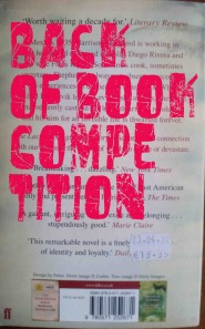 Back of Book Competition
